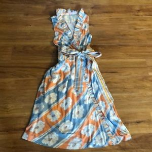 Anthropologie RicRac crossover midi dress